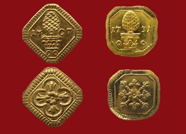 Stadt Augsburg Goldabschlag Vom Heller 1707 Und 1731